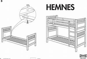Ikea Hemnes Bunk Bedframe Twin Assembly Instruction