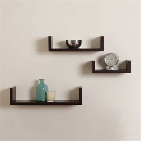 l shaped desk ikea floating shelves u walnut brown finish set of 3
