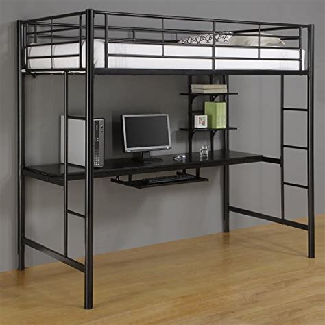 beds that have a desk underneath metal loft beds with desk underneath