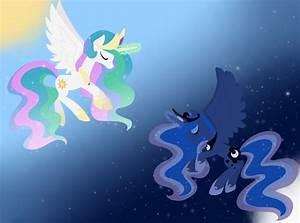 Luna Celestia Wallpaper by Otterlore on DeviantArt