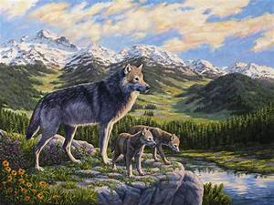 Wolf Painting - Passing It On Painting by Crista Forest