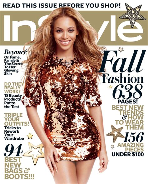 beyonce knowles talks marriage  september  instyle