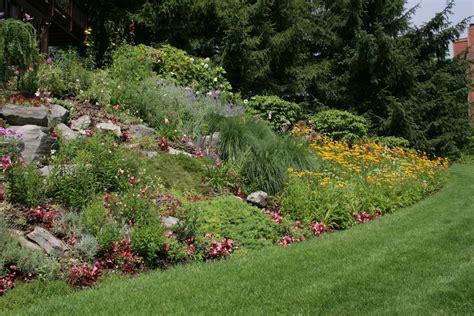 hillside landscaping lush hillside garden distant view landscape authority