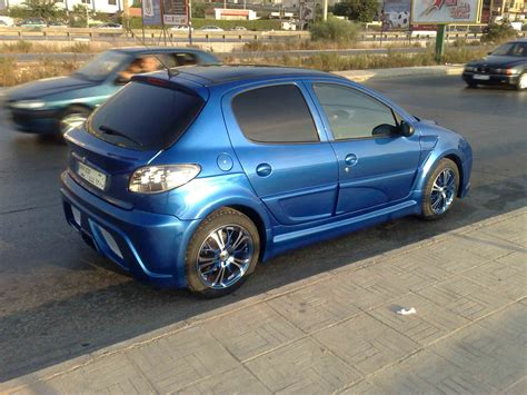 Peugeot 206 Tuning by Ahmad Jaber Tuning Showroom Peugeot 206 Blue