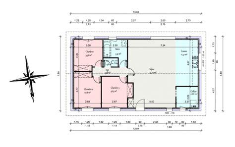 plan de maison 4 chambres plain pied gratuit avis plan rt 2012 maison plain pied 90m2 habitable 71