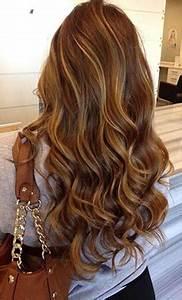 Ombré Hair Marron Caramel : brunette caramel highlights on pinterest long layer hair ~ Farleysfitness.com Idées de Décoration