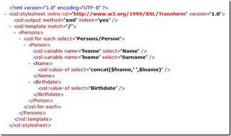 xsl template xslt mapping a simple exle