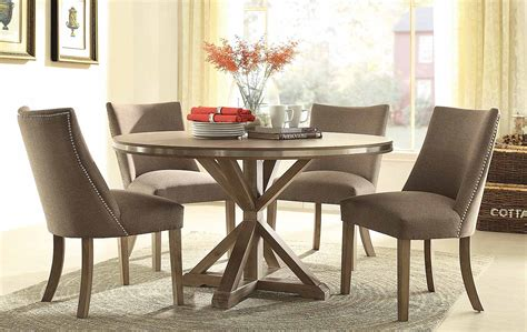 Living Room Furniture Sets Under 600 by Homelegance Beaugrand Round Dining Set Brown 5177 54