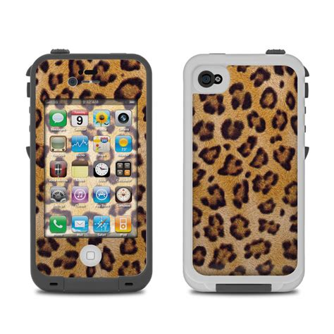 iphone four cases lifeproof iphone 4 skin leopard spots by animal 1296