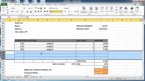 create template make an invoice in excel invoice template ideas