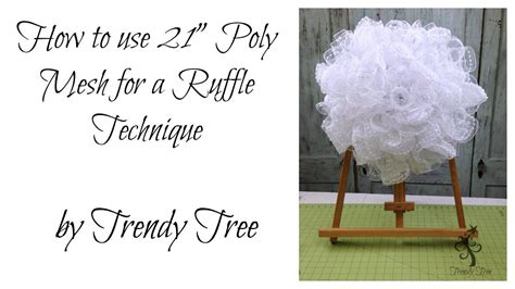 mesh   ruffle wreath  trendy tree