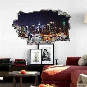 Wandtattoo Wall Art : 3d wandtattoo new york skyline wall ~ Sanjose-hotels-ca.com Haus und Dekorationen