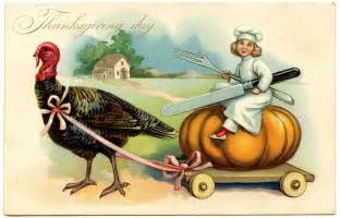 vintage thanksgiving image chef with turkey the graphics