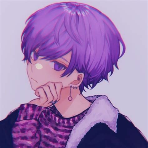 Anime Pfp Purple Hair Pin On Pfp I Picked These 10