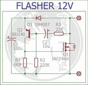 Rangkaian Flasher Motor Led