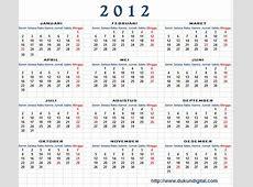 Kalender 2012 beserta tanggal merahnya Unlocking