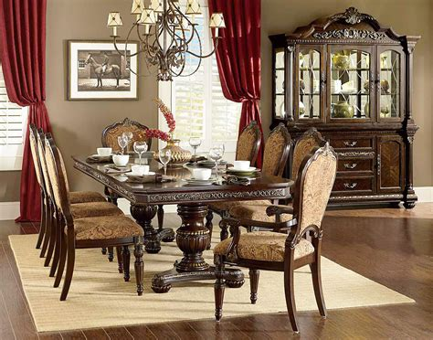 dining room sets cleopatra ornate traditional cherry formal dining room