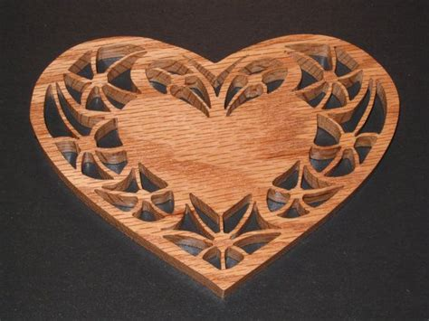 scroll  fretwork heart shaped candle trivet