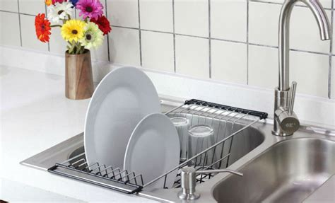 Kitchen Drainer Basket by Dish Drying Rack Stainless Steel Kitchen Dish Drainer