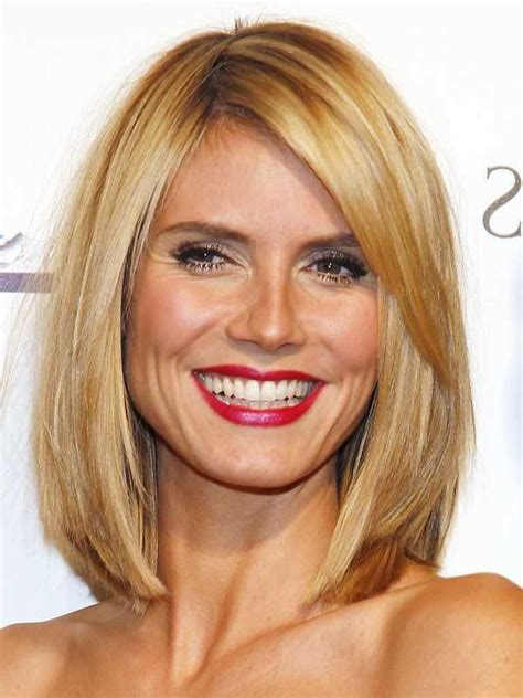 heidi klum long bob hairstyles celebirity hairstyles