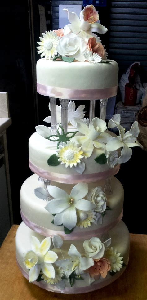 4 tier wedding cake cakes by saveurs dartmouth for special occasions made to order 1112