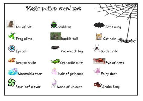 magic potion wordmat  anon teaching