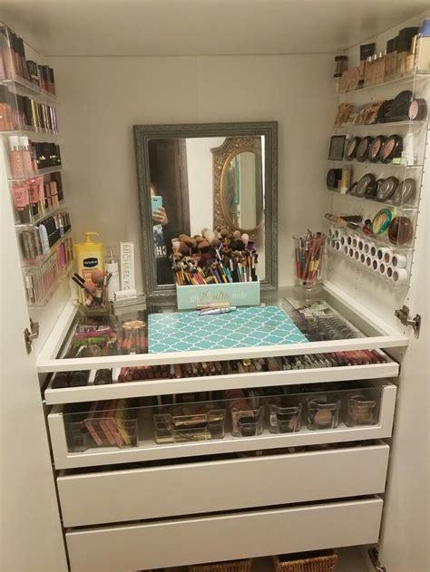 ikea makeup storage ideas  pinterest ikea craft room ikea organization  makeup
