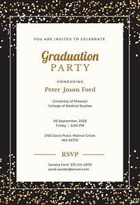 Farewell Invitation Templates Free Download Free Simple Graduation Invitation Template In Microsoft