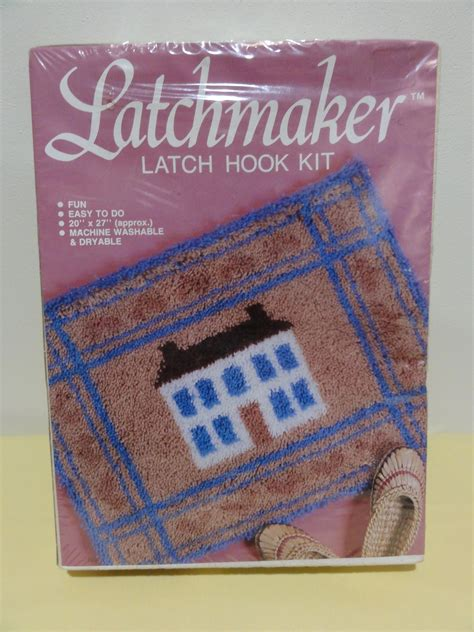 1980s Unopened Latchmaker Latch Hook Kit Early American