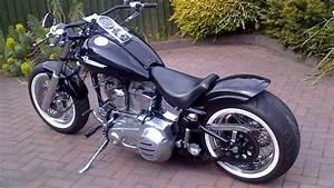 Bobber Harley Davidson : harley davidson 1986 fxst softail bobber chopper hotrod custom 240 rear wheel tyre conversion ~ Medecine-chirurgie-esthetiques.com Avis de Voitures
