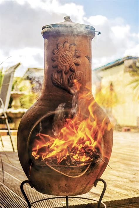 chiminea for cooking three fuels for
