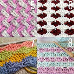20+ Multi-Color Crochet Stitch Tutorials - Make & Do Crew