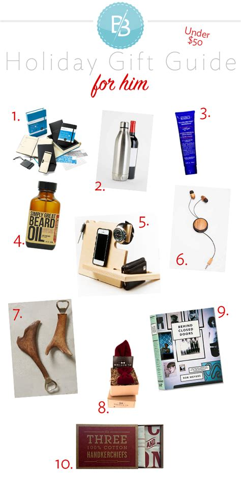 under 50 christmas gift guide for him broke but bougie