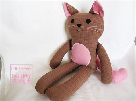 cat doll sewing pattern tutorial  printable kitty