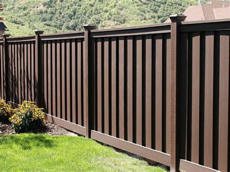 beautiful dark brown fence  flat caps   yard  garden trex fencing pinterest