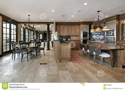 Country Kitchen In Luxury Home Stock Photo   Image: 9983852