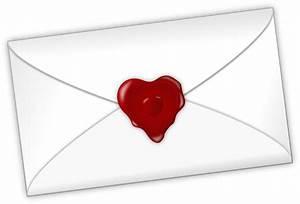 [フリーイラスト素材] クリップアート, 手紙, ラブレター, ハート, 愛 / ラブ ID ...