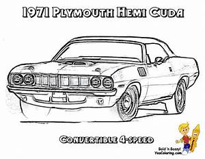 Brawny Muscle Car Coloring Pages | American Muscle Cars | Free