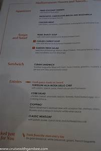 msc cruises divina menus cruise with gambee