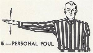 Conduct Chart Printable American Football Referee Signals Chart Student Handouts