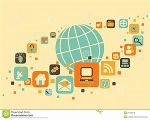 Earth And Social, Media, Web Icons Stock Vector - Image ...