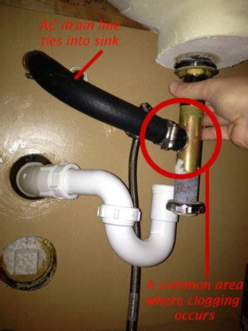 ac drain lines  tie   sinks plumbing
