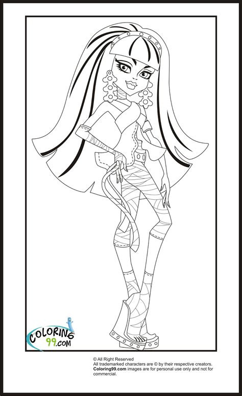 High Coloring Pages Team Colors High Cleo De Nile Coloring Pages Team Colors