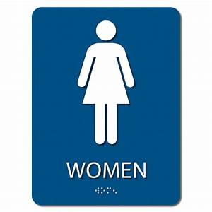 Ada women39s only restroom sign 6 x 8 iprint 3d usa for Women only bathroom sign