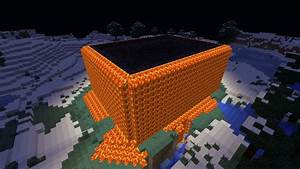 Giant Fortress (lava castle in snow biome) Minecraft Project