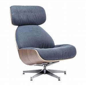 Fauteuil Pivotant Design : fauteuil pivotant contemporain bleu ponte uni kare design ~ Teatrodelosmanantiales.com Idées de Décoration