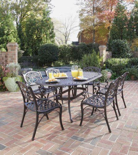 home styles 5555 338 biscayne 7 outdoor dining set rust bronze finish cheap patio