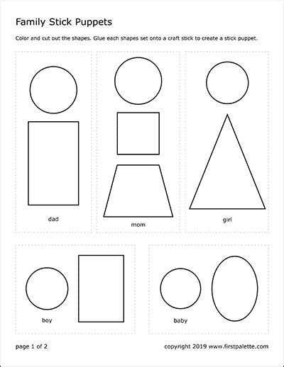 shapes house template  printable templates