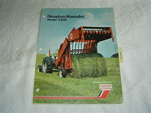 Hesston 5400 Rounder Baler Parts Listing Catalog Manual