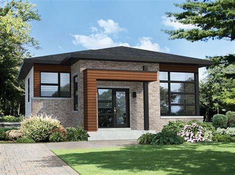 Two Bedroom Modern House Plan 80792pm Contemporary